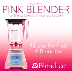 CONTEST IS NOW OVER, THANKS! Win this Pink Blender! Re-Pin to win and post how breast cancer has effected you or someone in your life.  *US and Canada only *Winner chosen on Oct 30th 2013 *Enter on Instagram/Twitter/Facebook for more chances to win