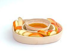 ceramic serving bowl  White ring shaped by hamutalbenjoceramics https://www.etsy.com/listing/167653630/ceramic-serving-bowl-white-ring-shaped?ref=shop_home_active_4