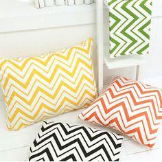 Scandinavian Retro Nordic Zigzag Patchwork Cotton Curtain Cushion Cover Fabric