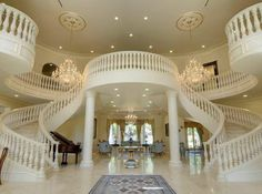 Toll Brothers Dramatic Two Story Foyer With Elegant Curved