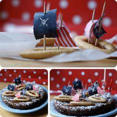 Child's Pirate Birthday Cake.
