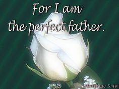 For I am the perfect father. Father's Love Letter, Matthew 5 48, Fathers, Lettering, Dads, Parents, Drawing Letters, Brush Lettering