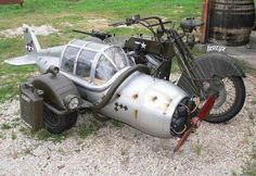 Radial engine on prop? #HarleyDavidson #V-Twin #Sidecar