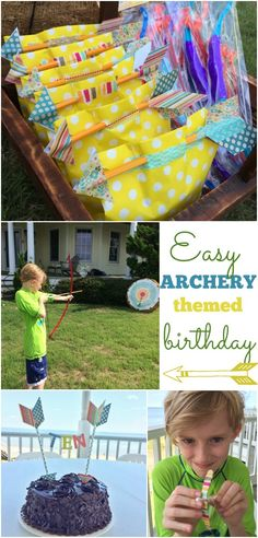 Archery themed birthday party ideas