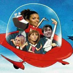 Doctor Who:  Jetson style!  David Tennant and his companions in Places they shouldn't be.