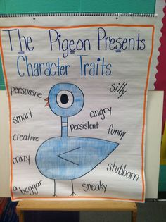 Character traits anchor chart :: Life in First Grade: Pigeons, Skunks, Halloween, and Anchor Charts