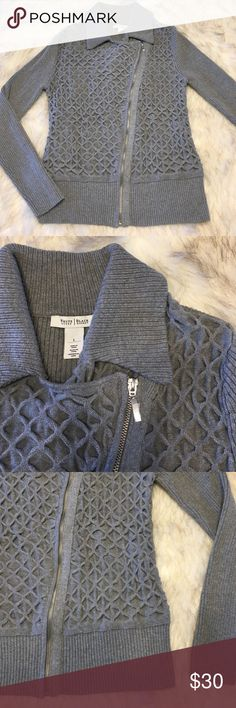NWOT White House Black Market Sweater Beautiful sweater, never worn. Still has plastic covering zipper. White House Black Market Sweaters