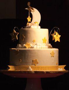 Twinkle twinkle little star baby shower cake or birthday cake.