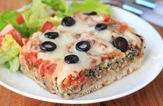Meatless Recipes You'll Love: Deep-Dish Pizza Casserole