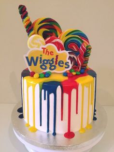 Image result for wiggles drip cake