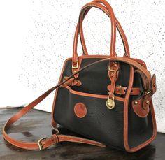 Vintage Dooney And Bourke Black Handbag Pristine Condition