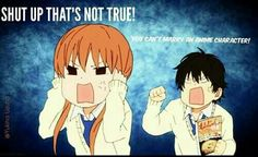 You can't marry an anime character!, shut up that's not true!, Haru, Shizuku, funny, text, My Little Monster; Otaku