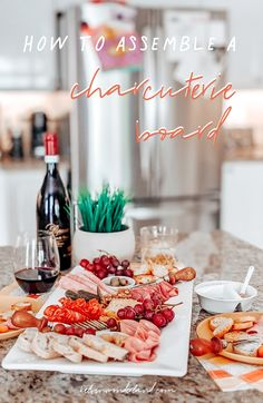 DIY Charcuterie Board -- easy, delicious, share-worthy... only if you want to ;) Recipes Appetizers And Snacks, Quick Appetizers, Healthy Desserts, My Favorite Food, Favorite Recipes, Charcuterie And Cheese Board, Food Platters, What To Cook, Food Design