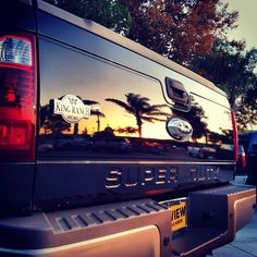 So Cal Sunset on a Super Duty...   SoCalFordDealers #FordTrucks #PoweredByFord #BlueOval #GoFurther