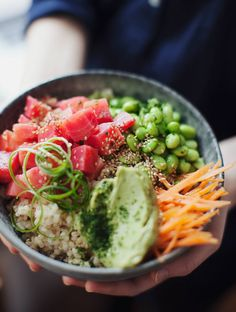 Poke inspired beet bowl vegan