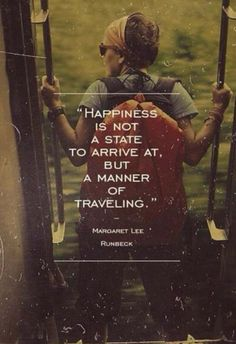 Happiness is Traveling