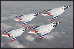 Something you will never see... F-117s in Thunderbird Motif