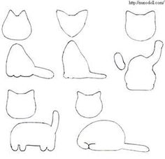 Patterns for felt cats