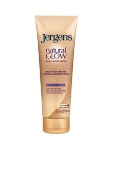 Jergens Natural Glow Firming Daily Moisturizer camos cellulite for leaner-looking legs.