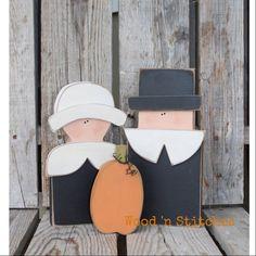 Thanksgiving automne pèlerins primitif citrouille par jodyaleavitt