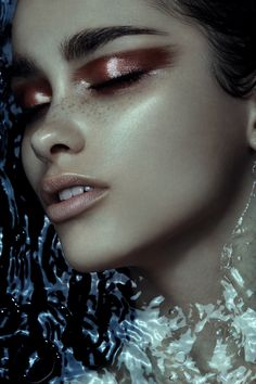 watter girl fashion editorial makeup
