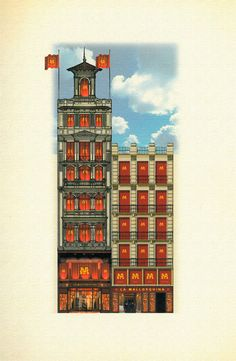 Façana corporativa dels anys 90 a Plaça Universitat.
