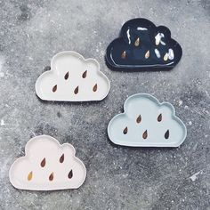 Today's forecast: ceramics with a chance of rain  Loving our new @urbancartel French porcelain cloud dishes with adorable gold raindrops! #acupofchicshop #urbancartel #madeinmelbourne #ceramics #porcelain #handmade by acupofchic