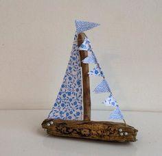 Driftwood sailboat driftwood sailing boat by DriftingDowntime