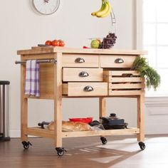 The Southern Enterprises Aledo Portable Kitchen Cart makes whipping up delicious recipes in your kitchen easier than ever. This convenient kitchen cart. First Kitchen, Small Appliances, Kitchen Dining, Kitchen Carts, Island Kitchen, Kitchen Stuff, Cool Furniture, Countertops, Interior