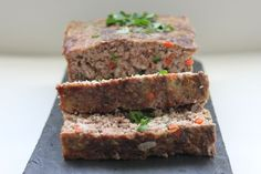Primal Meatloaf. i made this for dinner tonight. i used a whole diced zucchini in place of celery and used 4 cloves of garlic instead of one. i also only used beef because it was all i had. it was delicious. my whole house still smells amazing and both my kids (and husband) devoured it.