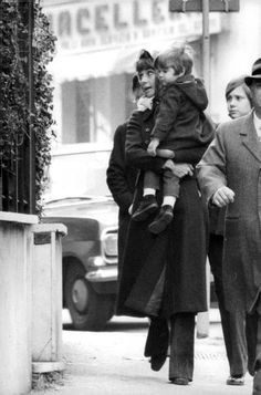 Rare Audrey Hepburn — Audrey Hepburn with her two sons, Sean Ferrer and...