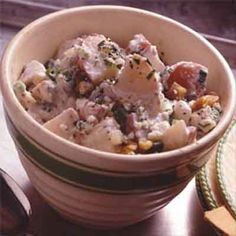Taste the extra zest when blue cheese and mustard marry in this classic potato salad with an updated twist. The walnuts add flavor and crunch.