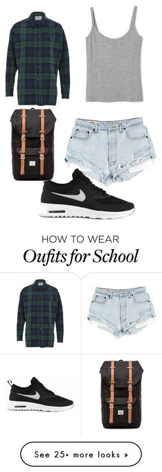 """back to school outfit"" by fernandyyy on Polyvore featuring Essentiel, NIKE and Herschel Supply Co."