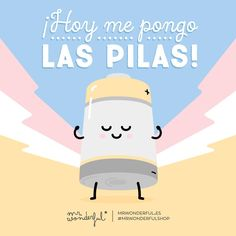Que se note que terminamos el año a tope de energía Today my batteries are fully charged! Let's show them how to finish the year with plenty of ene Cute Quotes, Funny Quotes, Funny Images, Funny Pictures, Funny Pics, Santoro London, Cute Phrases, Positive Vibes, Positive Mind