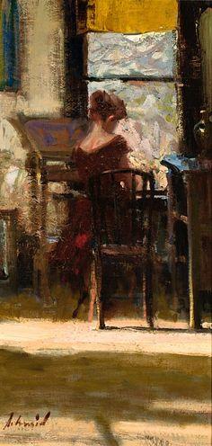 """Richard Schmid, """"Sandra at the Window"""".  Love it."""