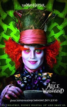 """Johnny Depp as the Mad Hatter in """"Alice In Wonderland"""""""