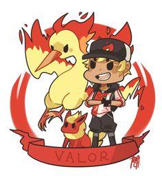 Pokemon Go | Team Valor by sho-ba.tumblr.com