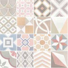 Art Deco 1 Pastel 20x20, Imitation tile cement tiles, Tiles