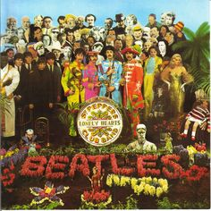 "Sgt. Peppers Lonely Hearts Club Band, released on June 1, 1967. The album cover was a complete departure from contemporary record albums. I was 13 years old and received the record for Christmas that year. Can well recall studying the cover closely, even moreso when the ""cover mysteries"" and ""secret messages in the tracks"" rumors began."