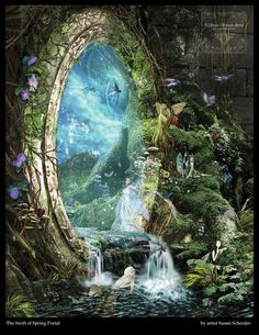 Fantasy art, illustrations, drawings, photo manipulations, digital photography and more. New site: fantasy art gallery Fantasy Places, Fantasy World, Fantasy Books, Fantasy Artwork, Fantasy Art Landscapes, Elfen Fantasy, Fantasy Kunst, Fairy Art, Magical Creatures