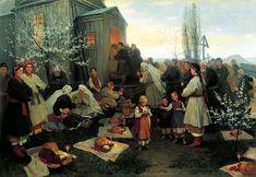 Easter morning in Little Russia by Mykola Pymonenko (1891) @Derek Nichols