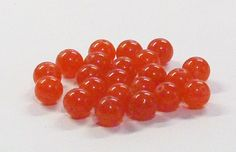 Round Jade Stone Beads in Red 8 MM by BeadsFromHaven on Etsy