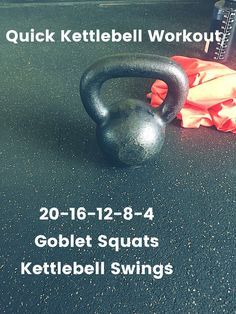Quick Kettlebell Workout! Crossfit style with goblet squats and kettlebell swings https://www.kettlebellmaniac.com/kettlebell-exercises/