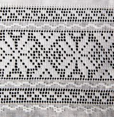 30739 585×600 pixels Filet Crochet, Crochet Motif, Crochet Designs, Hand Crochet, Crochet Lace, Crochet Patterns, Drawn Thread, Thread Work, Beaded Embroidery