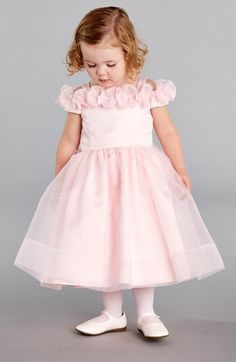 Free shipping and returns on Kleinfeld Pink 'Emily' Organza Dress (Toddler Girls & Little Girls) at Nordstrom.com. Kleinfeld—renowned bridal fashion destination—has designed a new special occasion line to make little girls look and feel beautiful on your big day. Whether she's in the wedding party, or just a party-goer, she'll be pretty in pink wearing this off-the-shoulder organza dress trimmed with girly rosettes.