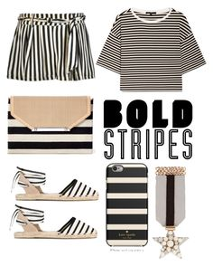 """""""Brave Stripes"""" by clairelennon ❤ liked on Polyvore featuring TIBI, Kate Spade, Stella & Dot and Soludos"""