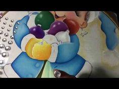 Pintura En Tela Niña Con Esferas # 4 Con Cony - YouTube