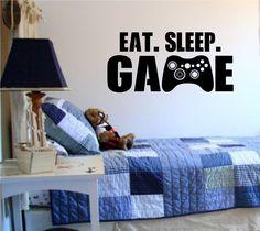 Eat Sleep Game Version 101 Gamer Video Game Decal Sticker Wall Boy Girl Teen