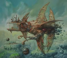 """crossconnectmag: """"The Weird and Wonderful Art of Jaroslaw Jasnikowski Currently Jasnikowski is one of the leading developers of fantastic realism in Poland, jogo paintings are in collections all over. Bizarre Kunst, Bizarre Art, Weird Art, Arte Sci Fi, Sci Fi Art, Fantasy Kunst, Fantasy Art, Best Sci Fi Books, Sci Fi Kunst"""
