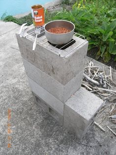 5 block rocket stove